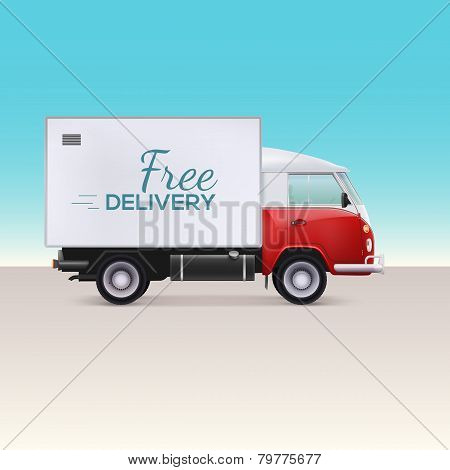 Delivery truck.