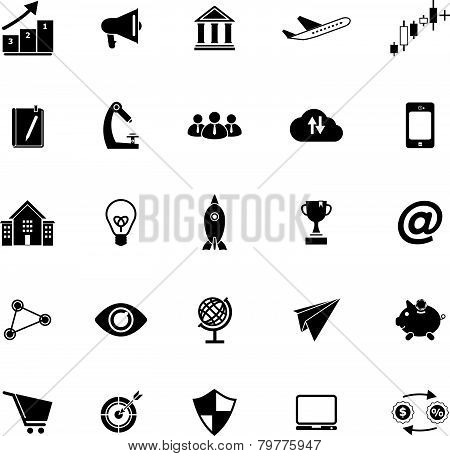 Startup Business Icons On White Background