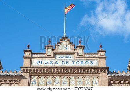 Las Ventas Bullring In Madrid, Spain.