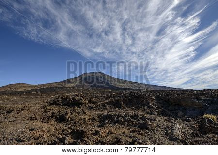 View Of Craters Narices Del Teide And Pico Viejo, Tenerife.