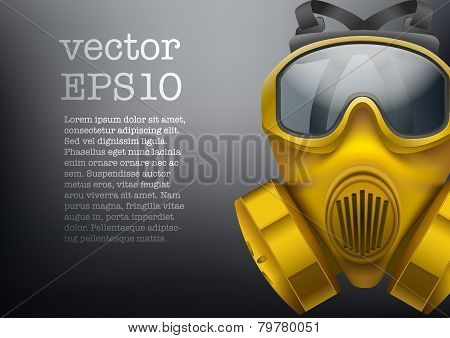 Background of safe chemical antiviral gas mask. Vector