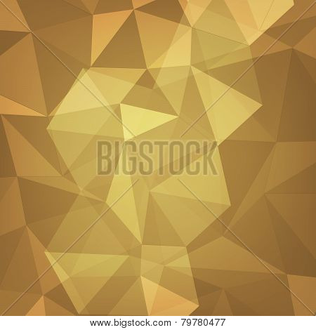Gold Polygon Geometric Abstract Background