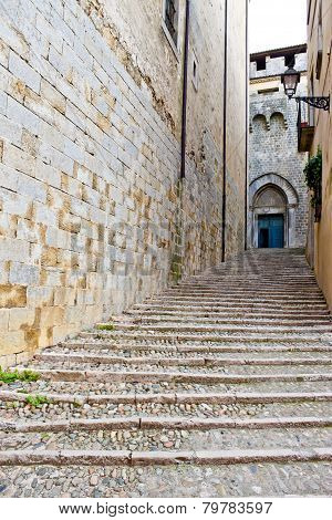 Ancient Street In Girona