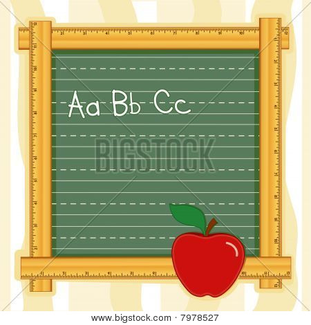 ABC Ruler Blackboard