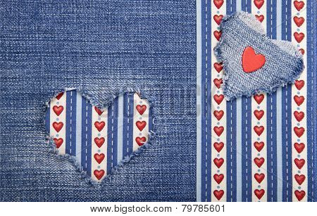 Textile Applique For Valentine's Day.