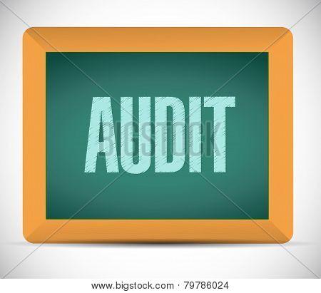 Audit Board Sign Illustration Design