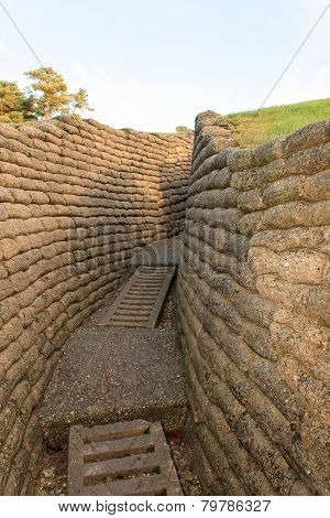 The Trenches Of The Battlefield At Vimy France