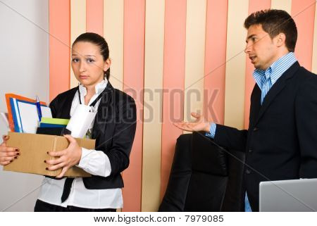 Fired Disappointed Woman