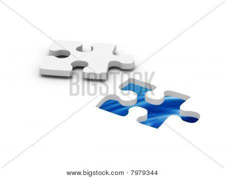Aqua Jigsaw Puzzle