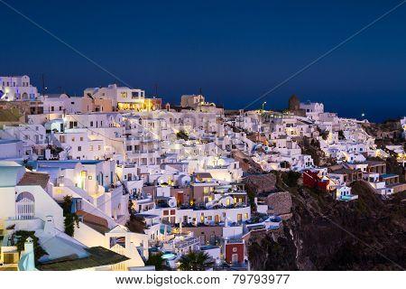 Village Of Imerovigli At Twilight