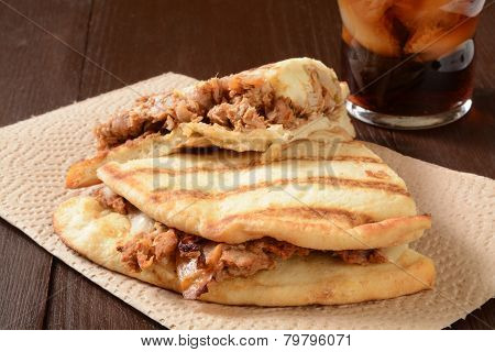 Chicken Sandwich On Naan Bread
