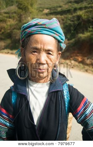 Eldery Hmong Woman