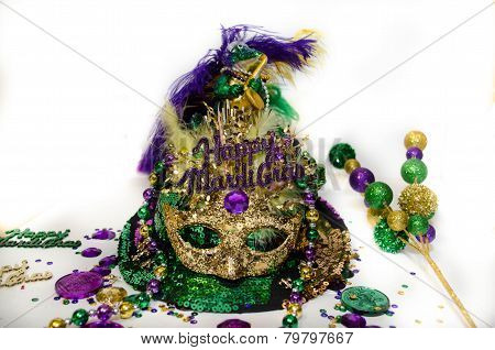 Mardi Gras Mask and decorations
