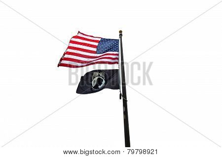 American And Pow Flag