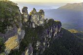 picture of three sisters  - The Three Sisters NSW Australia at dawn - JPG