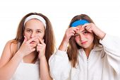 stock photo of pimples  - Teenager - JPG