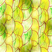 picture of semi-circle  - Mural green semi - JPG