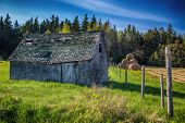 stock photo of sag  - An old farm building in rural Prince Edward Island - JPG