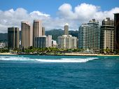 picture of waikiki  - A crisp cityscape capturing Waikiki in later summer.
