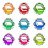 pic of gage  - layers icons set gages sign  - JPG