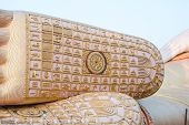 stock photo of recliner  - Foot of Reclining buddha at South of thailand - JPG