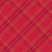 stock photo of tartan plaid  - Endless vector pattern with Plaid Fabric - JPG