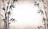 picture of bamboo  - bamboo painted on textural grunge background - JPG