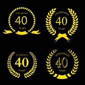foto of laurel  - forty years anniversary laurel gold  wreath set - JPG