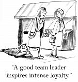 stock photo of loyalty  - The team lead has inspired intense loyalty in one of the team members - JPG