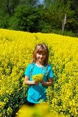 Young Girl In Rape Field