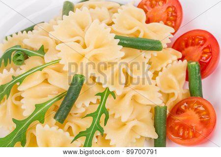 Pasta farfalle as a haute cuisine.