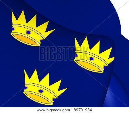 Flag Of Munster, Ireland.