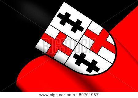 Flag Of Merzig, Germany.
