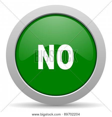 no green glossy web icon
