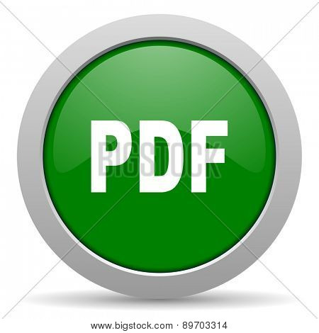 pdf green glossy web icon