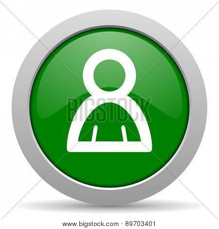person green glossy web icon