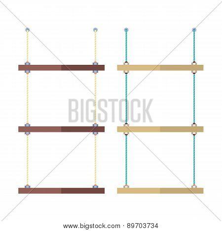 Set Of Empty Shelves Rope.