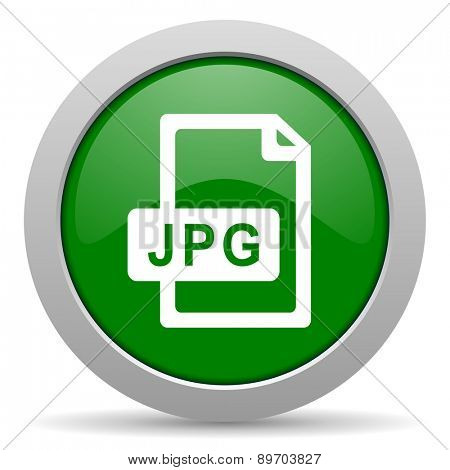 jpg file green glossy web icon