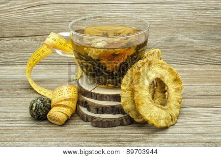 Dietary Jasmine Tea And Dried Pineapple