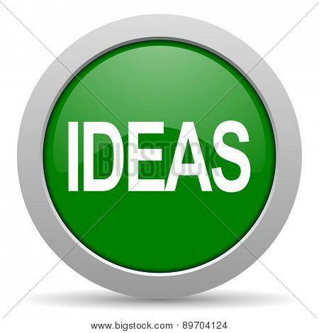 ideas green glossy web icon
