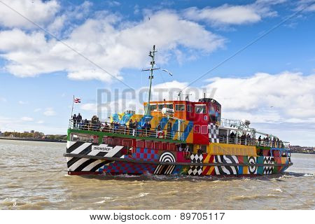 River Mersey Dazzle Ferry in Liverpool.