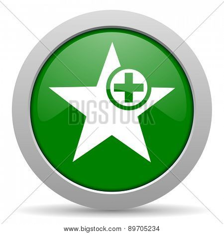 star green glossy web icon