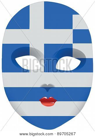 Greece Mask