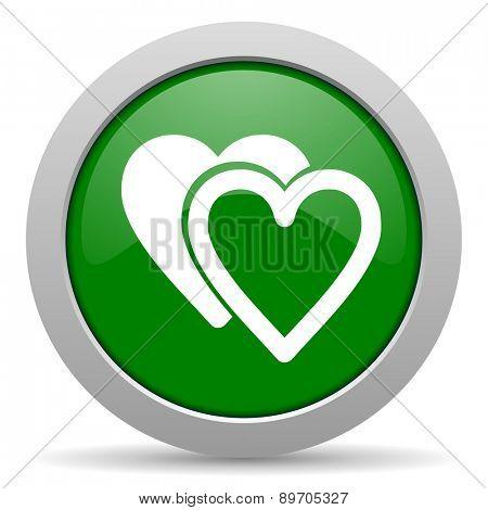 love green glossy web icon