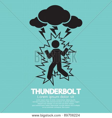 Thunderbolt On A Man Symbol.