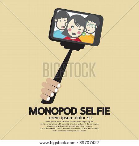 Monopod Selfie Self Portrait Tool For Smartphone.