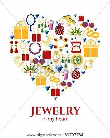 Jewelry heart shape