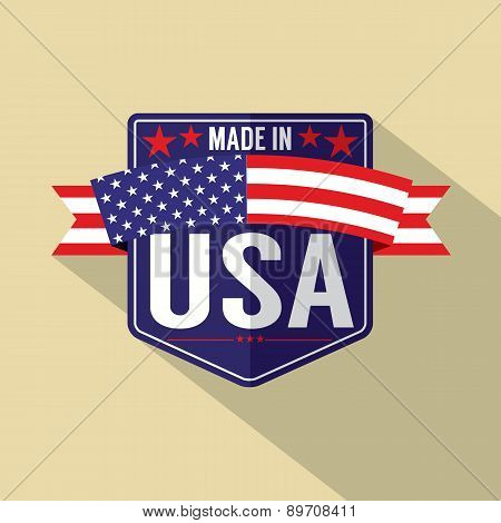 Made In Usa Single Badge.