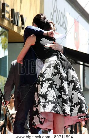 LOS ANGELES - MAY 1:  Michael J. Fox, Julianna Margulies at the Julianna Margulies Hollywood Walk of Fame Star Ceremony at the Hollywood Boulevard on May 1, 2015 in Los Angeles, CA