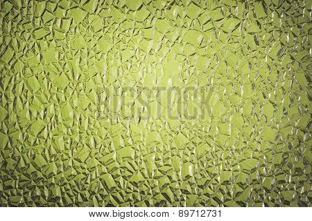 Green Crackle Glass Background